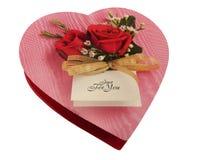 καρδιά σοκολάτας κιβωτί& στοκ φωτογραφίες