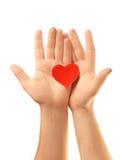 Καρδιά στα χέρια Στοκ Εικόνες
