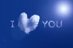 καρδιά σύννεφων όπως τον ο&upsi Στοκ φωτογραφίες με δικαίωμα ελεύθερης χρήσης