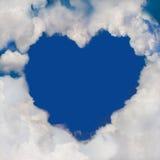 Καρδιά σύννεφων Στοκ εικόνες με δικαίωμα ελεύθερης χρήσης