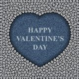 Καρδιά τζιν παντελόνι με τις πούλιες Στοκ φωτογραφία με δικαίωμα ελεύθερης χρήσης