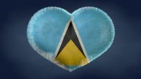 Καρδιά της σημαίας της Αγίας Λουκία απεικόνιση αποθεμάτων