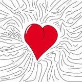 Καρδιά τρύών και κινούμενων σχεδίων Στοκ φωτογραφίες με δικαίωμα ελεύθερης χρήσης