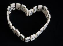 καρδιά τυχερού παιχνιδιού Στοκ Φωτογραφία