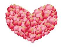 Καρδιά των ροδαλών πετάλων Στοκ φωτογραφία με δικαίωμα ελεύθερης χρήσης