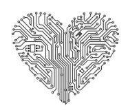 καρδιά υπολογιστών ελεύθερη απεικόνιση δικαιώματος