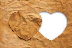 καρδιά υφασμάτων που διαμορφώνεται Στοκ Φωτογραφίες