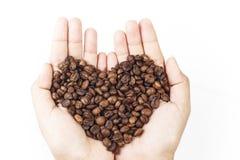 Καρδιά φασολιών καφέ στοκ φωτογραφία με δικαίωμα ελεύθερης χρήσης