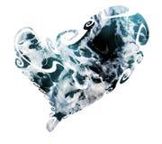 Καρδιά φιαγμένη από κύματα, εικόνα αγάπης Στοκ Φωτογραφίες