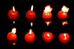 καρδιά φλογών κεριών Στοκ εικόνα με δικαίωμα ελεύθερης χρήσης