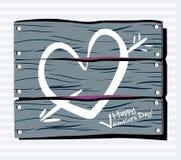 καρδιά φραγών κιμωλίας Στοκ φωτογραφία με δικαίωμα ελεύθερης χρήσης