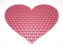 καρδιά φυσαλίδων Στοκ εικόνες με δικαίωμα ελεύθερης χρήσης