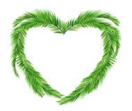 Καρδιά φύλλων καρύδων Στοκ φωτογραφία με δικαίωμα ελεύθερης χρήσης