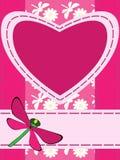 καρδιά χαιρετισμού καρτών Στοκ Εικόνες