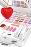 καρδιά χαρτοφυλάκων makeup Στοκ Εικόνες
