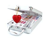 καρδιά χαρτοφυλάκων makeup Στοκ φωτογραφία με δικαίωμα ελεύθερης χρήσης