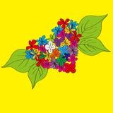 καρδιά χεριών λουλουδιών που χρωματίζεται Στοκ εικόνα με δικαίωμα ελεύθερης χρήσης