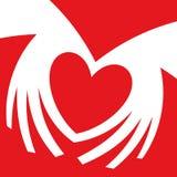 καρδιά χεριών που διαμορφ Χειρονομία καρδιών χεριών ελεύθερη απεικόνιση δικαιώματος