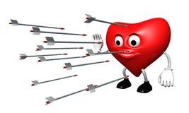 καρδιά 2 βελών Στοκ εικόνες με δικαίωμα ελεύθερης χρήσης