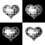 καρδιά disco Στοκ φωτογραφία με δικαίωμα ελεύθερης χρήσης