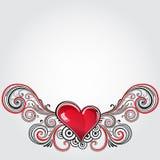 Καρδιά Grunge Στοκ Εικόνα