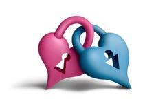 καρδιά locks1 Στοκ εικόνα με δικαίωμα ελεύθερης χρήσης