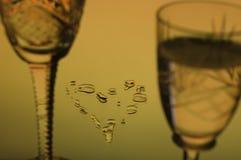 καρδιά nightcups Στοκ εικόνες με δικαίωμα ελεύθερης χρήσης