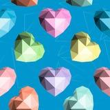 Καρδιά Origami άνευ ραφής διάνυσμα προτύπ&omeg Στοκ φωτογραφίες με δικαίωμα ελεύθερης χρήσης