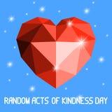 Καρδιά Origami Κόκκινο χρώμα, με τα αστέρια Στοκ φωτογραφία με δικαίωμα ελεύθερης χρήσης