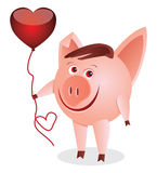 καρδιά piggy Στοκ Φωτογραφίες