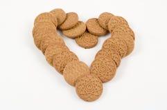 καρδιά s μπισκότων Στοκ Εικόνα