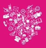 καρδιά sms Στοκ φωτογραφίες με δικαίωμα ελεύθερης χρήσης
