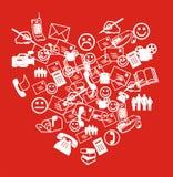 καρδιά sms Στοκ εικόνα με δικαίωμα ελεύθερης χρήσης