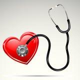 καρδιά stethescope διανυσματική απεικόνιση