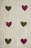 καρδιές έξι Στοκ εικόνα με δικαίωμα ελεύθερης χρήσης