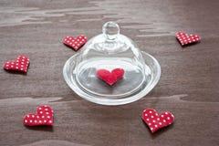 καρδιές έξι Στοκ φωτογραφία με δικαίωμα ελεύθερης χρήσης
