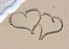 καρδιές αμμώδεις Στοκ Εικόνα