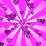 καρδιές ανασκόπησης αναδρομικές διανυσματική απεικόνιση