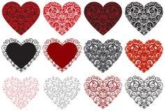 Καρδιές βαλεντίνων Στοκ Εικόνες