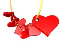 καρδιές γιρλαντών στοκ εικόνα