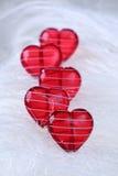 καρδιές γυαλιού Στοκ Εικόνα