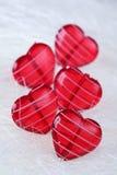 καρδιές γυαλιού Στοκ εικόνα με δικαίωμα ελεύθερης χρήσης