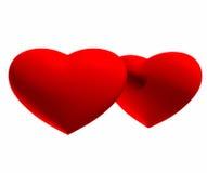 καρδιές δύο ανασκόπησης λευκό Διανυσματική απεικόνιση