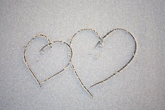 καρδιές δύο παραλιών Στοκ Εικόνες