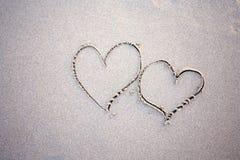 καρδιές δύο παραλιών Στοκ Εικόνα