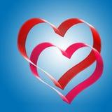 καρδιές δύο Στοκ φωτογραφία με δικαίωμα ελεύθερης χρήσης