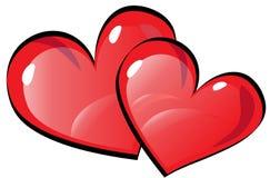 καρδιές δύο Στοκ φωτογραφίες με δικαίωμα ελεύθερης χρήσης
