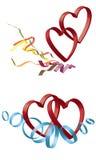 καρδιές δύο Στοκ εικόνα με δικαίωμα ελεύθερης χρήσης