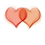 καρδιές δύο διανυσματική απεικόνιση