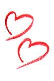 καρδιές δύο Στοκ εικόνες με δικαίωμα ελεύθερης χρήσης